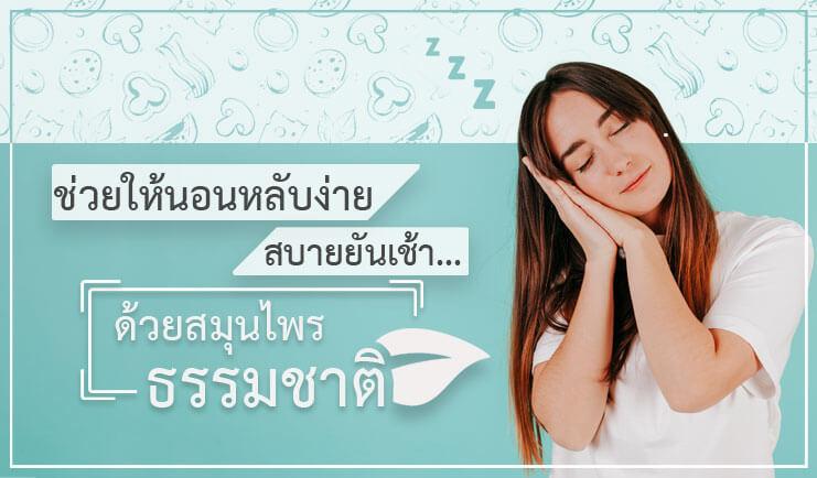 สมุนไพร ช่วยในการนอนหลับ